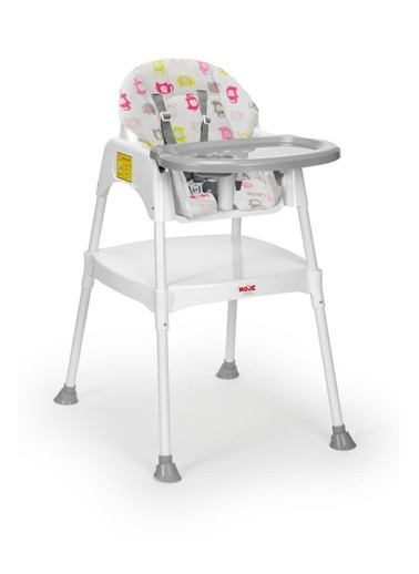 Moje Moje Filli Kılıflı Kız Bebek Mama Sandalyesi Renkli